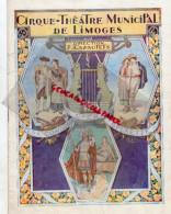 87 - LIMOGES - PROGRAMME CIRQUE THEATRE- CAZAUTETS- OPERA-OPERETTE-MISTINGUETT- WILLM-GALDEMAS-TISSOT- - Programmes