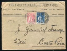 CAPE VERDE ISLANDS 1925 SAN TIAGO TO COSTA RICA - Portugal