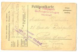 Carte Postale Ancienne  1915  Correspondance De Prisonnier Avec 2 Cachets - Guerre 1914-18