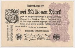 Allemagne. Reichsbanknote 2 Millions Mark. Août 1923 Neuf Mint - 2 Millionen Mark