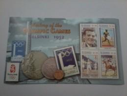 VINCENT GRENADINES SHEET OLYMPIC GAMES HEKSINKI 1952 BEIJING 2008 SPORTS JEUX OLYMPIQUES