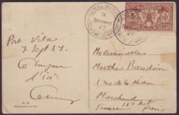 FRENCH NEW HEBRIDES 1914 CANAQUES IN CANOE 1927/25c - Europe (Other)