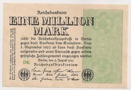 Allemagne. Reichsbanknote 1 Million Mark. Août 1923 Neuf Mint - [ 3] 1918-1933 : Weimar Republic