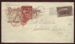 USA 1893 ADVERTISING COVER - COLUMBIAN 2c - Postal History