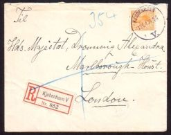 REGISTERED COVER TO QUEEN ALEXANDRA MARLBOROUGH HOUSE FROM DENMARK 1910 - Other Collections