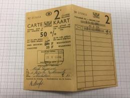 16W - Carte De Réduction 50/100 SNCB 1966 - Titres De Transport