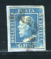 ITALIAN STATES SICILY 1859 2g BLUE FINE USED - Italy