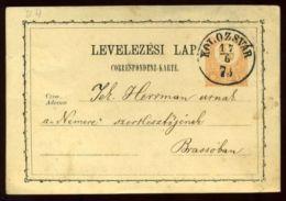 HUNGARY 1873 KOLOZSVAR STATIONERY - Hungary