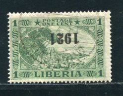 LIBERIA 1921 INVERTED OVERPRINT - Liberia