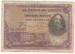Espagne. 50 Pesetas. Août 1928 - 50 Pesetas