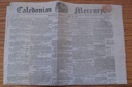TRISTAN DA CUNHA 1822 CALEDONIAN MERCURY INACCESSIBLE ISLAND - Old Paper