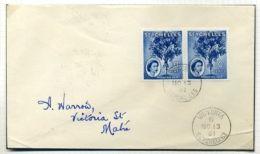 SEYCHELLES COCO DEMER UNUSUAL FLAW QE2 1961 - Seychelles (...-1976)