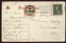 USA 1911 RED CROSS POSTCARD CHICAGO - Postal History
