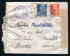 ALGERIA POSTE NAVALE WW2 TO EGYPT DOUBLE CENSOR - Europe (Other)
