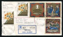 COOK ISLANDS MAUKE REGISTERED COVER 1971 - Cook Islands