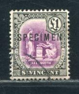 ST VINCENT KGV £1 SPECIMEN - St.Vincent & Grenadines
