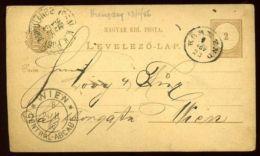 HUNGARY 1886 STATIONERY AND TPO POSTMARK - Hungary