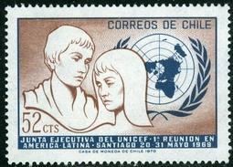 CILE, CHILE, 1971, COMMEMORATIVO, UNICEF, FRANCOBOLLO USATO, Scott 400 - Chile