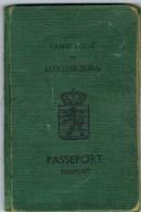 Luxembourg PASSEPORT Délivré 1949 (Voir Les Scans) - Plaatfouten & Curiosa