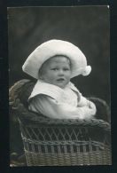 IMPERIAL PRUSSIAN GERMAN BABY IN BONNET PHOTO POSTCARD SIGNED TOPPSY 1911 - Unclassified