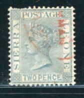 SIERRA LEONE CUSTOMS PORT MANO SALIJAH QV 2d - Sierra Leone (...-1960)