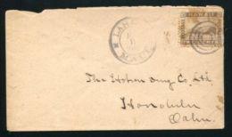 HAWAII MAUI FOUR RING POSTMARK COVER 1896 - Postal History
