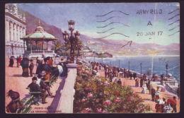 MONACO/AUSTRALIAN FIELD FORCE 1917 POSTCARD - Monaco