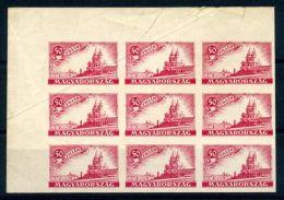 HUNGARY 1920 IMPERFORATE ESSAY BLOCK OF 9 - Hungary