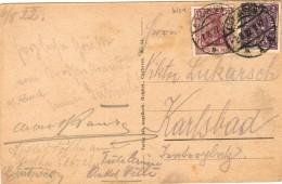 Dt. Reich INFLA 148 + 224 MiF Portogenau Auf Ausl.- Postkarte Im Sondertarif V. Cuxhaven 1922 Zur CSR - Deutschland