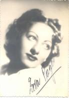 EVA PAGES ACTRIZ ARGENTINA AÑO 1938 AUTOGRAPHE AUTOGRAFO ORIGINAL - Autografi