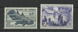 COMORES - YVERT N°13/14 * MH CHARNIERE INFIME - COTE = 32.2 EUR. - Comores (1950-1975)
