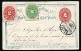MEXICO STATIONERY VILLA JUAREZ OAXACA 1893 - Mexico