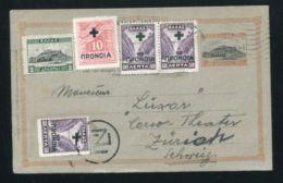 GREECE STATIONERY 1937 CURRENCY CONTROL MARKING SWITZERLAND - Greece