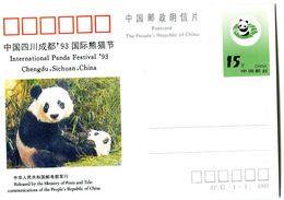 WWF CHINA 1993 Postcard With Panda. - Non Classificati