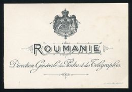 INVITATION NEW YEAR 1899 GENERAL POST & TELEGRAPH OFFICE BUCHAREST ROMANIA - Other Collections