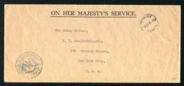 "TONGA 1937 ""OHMS"" COVER - GOVERNMENT CANCEL - Tonga (...-1970)"