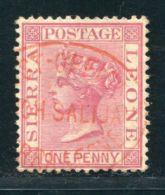 SIERRA LEONE CUSTOMS PORT MANO SALIJAH QV 1d - Sierra Leone (...-1960)