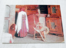 Post Card From Lithuania 1975 Interior Of A Samogitian Cottage - Litauen