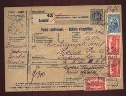 "HUNGARY ""SZENDRO"" PARCEL POST RECEIPT - Hungary"