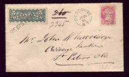 CANADA 1891 REGISTERED COVER - Commemorative Covers