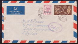 TANGIER 1949 OAT OVAL ON COVER TO CEYLON-RARE! - Unclassified