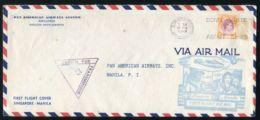 SINGAPORE PHILIPPINES PAN AMERICAN FIRST FLIGHT WORLD WAR TWO CENSOR - Singapore (...-1959)
