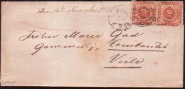 DENMARK 1863 LETTER TO VEILE - Denmark