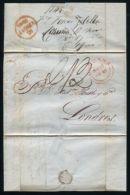 SPAIN BRITISH POST OFFICE CORUNNA 1845 - Spain