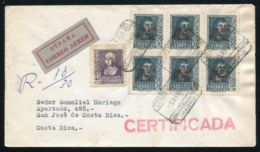 SPAIN 1948 AIRMAIL REGISTERED NEW YORK AMF TOUR - Ohne Zuordnung