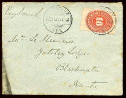 MEXICO 1895 VERACRUZ COVER TO ENGLAND - Mexico