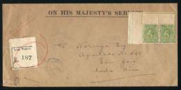 ST.VINCENT OHMS REGISTERED TO COSTA RICA 1925 - St.Vincent & Grenadines