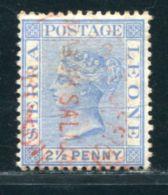 SIERRA LEONE CUSTOMS PORT MANO SALIJAH QV 2½d - Sierra Leone (...-1960)