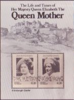 TUVALU 1980 QUEEN MOTHER EDINBURGH CASTLE PROOF
