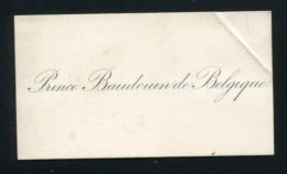 RARE YOUNG PRINCE BAUDOUIN OF BELGIUM VISITING CARD NEPHEW KING LEOPOLD II - Other Collections